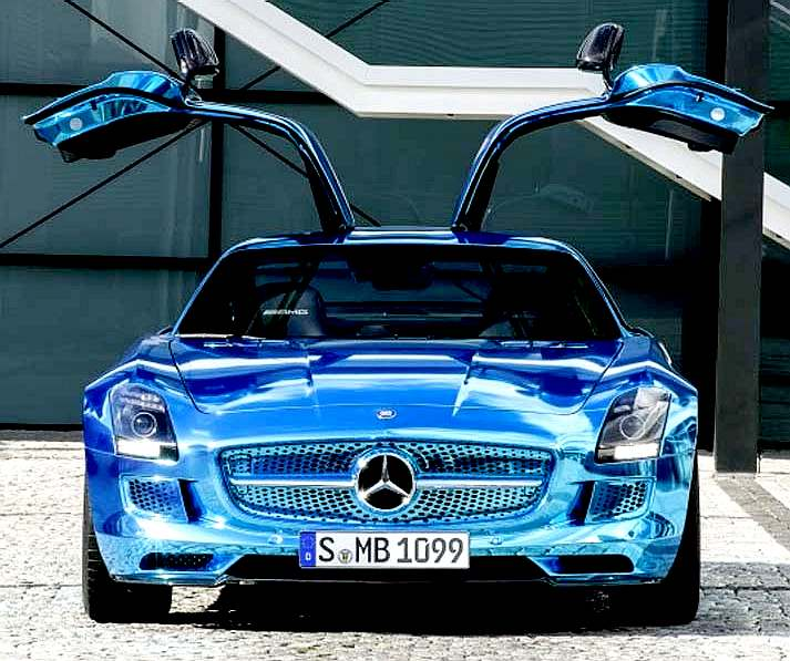 Mercedes Benz Sls Electric Gull Wing Door Car