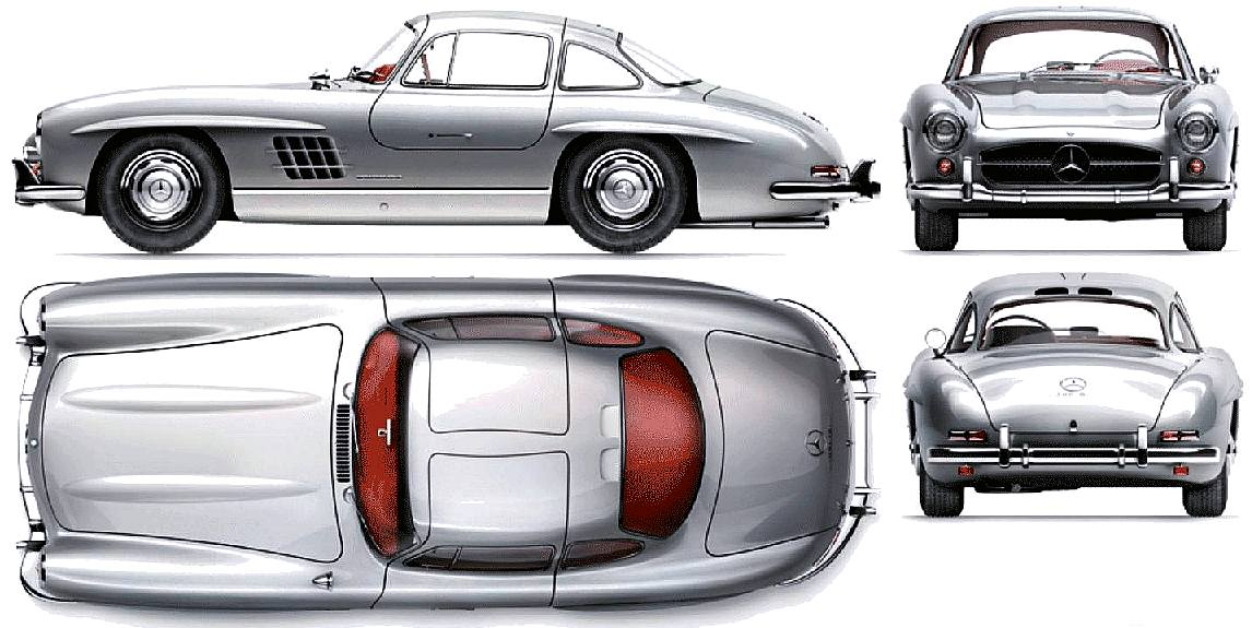 Mercedes benz 300 sl gull wing doors coupe restoration for Mercedes benz with wing doors