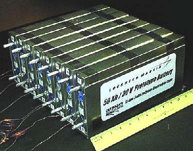 Lockheed lithium ion battery for NASA