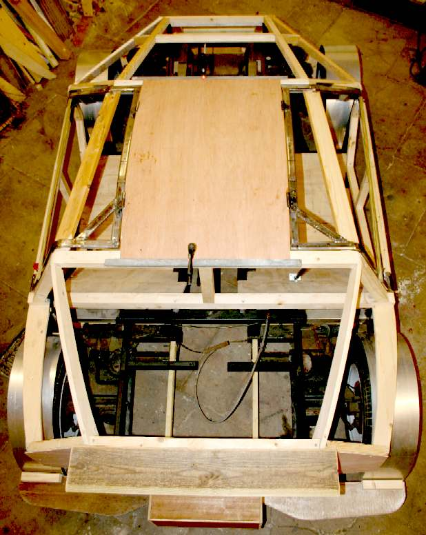 Building a car with a wooden body and gull wing doors