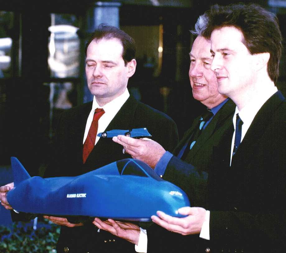Nelson Kruschandl, Sir Terence Conran and Don Wales - BE2 promotional picture