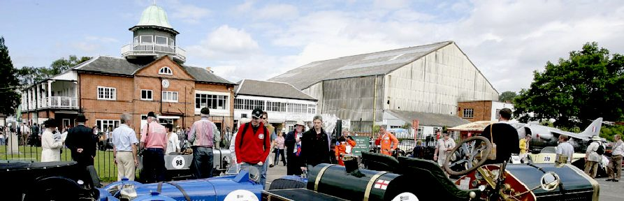 Brooklands historic banked racing track and museum