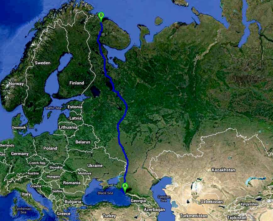 Trans-Russia Cannonball International Runs series route maps