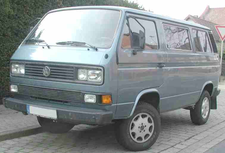 Late 1980s Caravelle VW van with alloy wheels