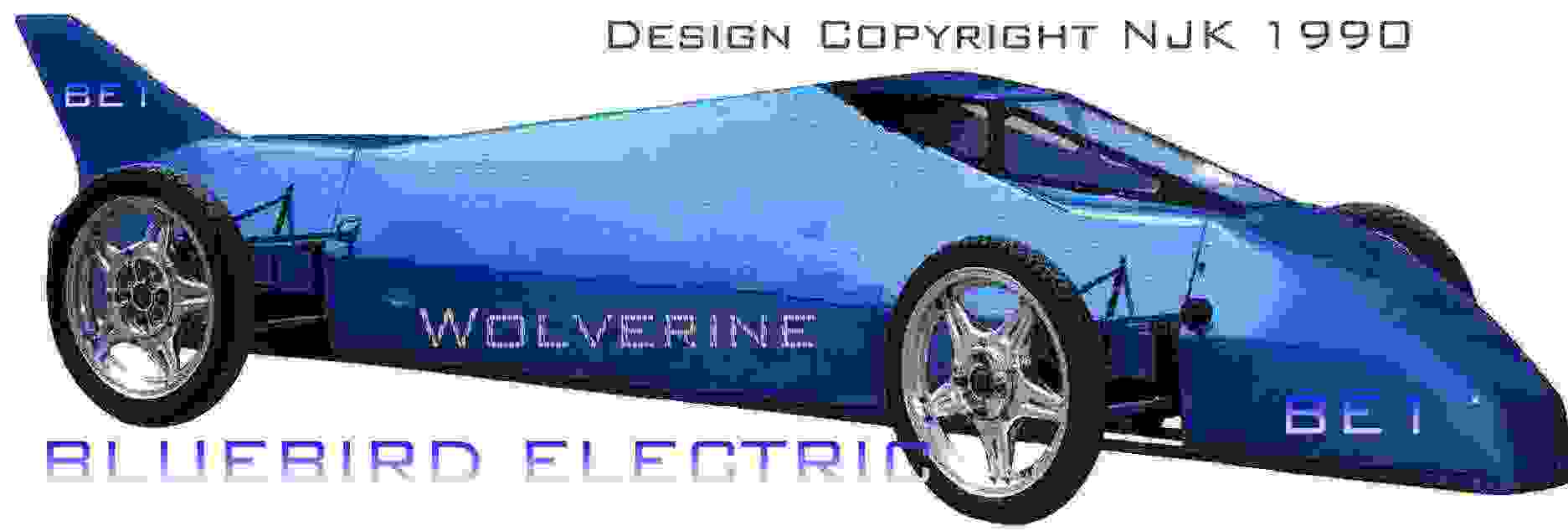 The BE1 electric racing car, bluebird motors