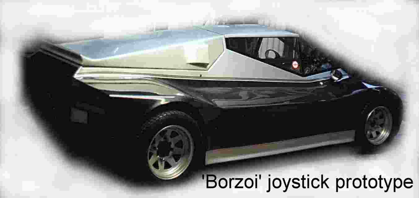 The Borzoi joystick car, patent prototype, V6 engine