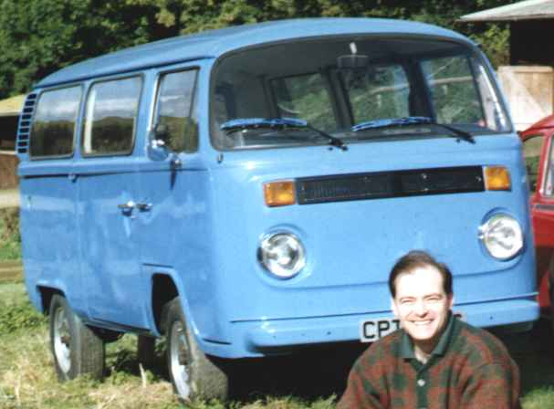Nelson and his Volkswagen Kombi Van VW in 1996