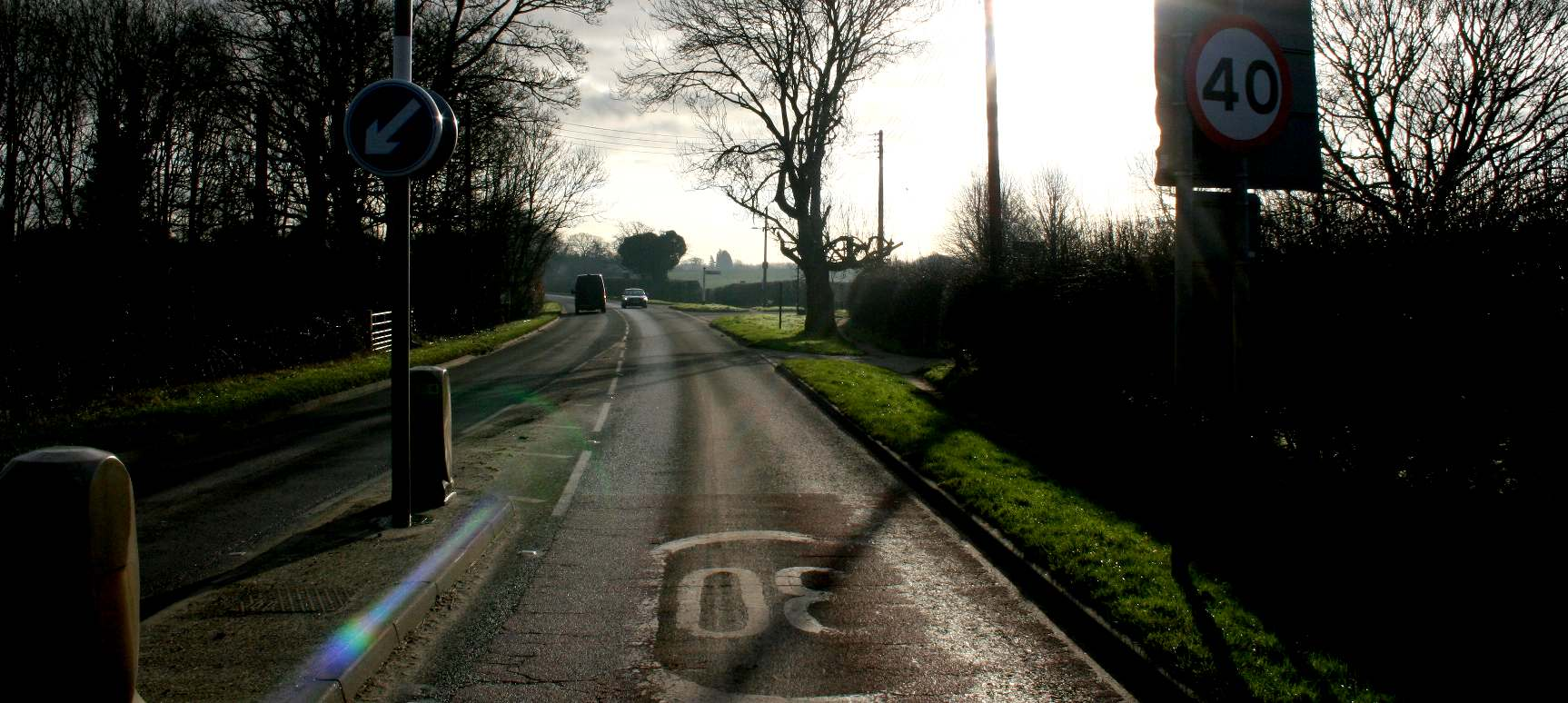 Typical British country road is substandard for modern electric vehicles