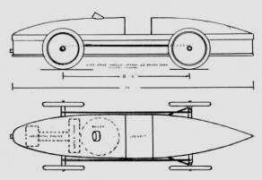 Drawing of the Stanley Steamer